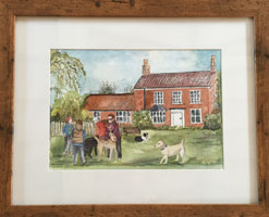 painting of DogBasics at Ingham, Norfolk